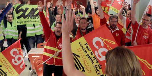 Grève cheminots SNCF CGT et SUD Rail
