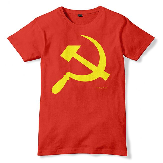 T-Shirt Rouge, Faucille et marteau